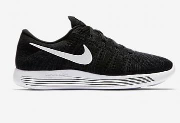 best website 4d63d 24a2c Nike Lunar Epic Low Flyknit Men Shoes Sneakers Black White 843764-002