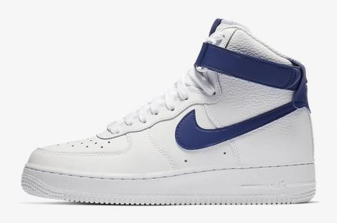 Nike Air Force 1 High 08 Le White Deep Royal Blue 334031 108 Sepsale