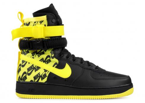 Nike Air Force 1 High SF Black Dynamic Yellow AR1955-001