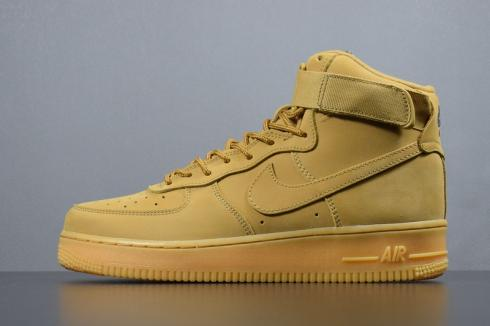 Nike Air Force 1 High WB Wheat Flax Basketball Shoes 882096-200