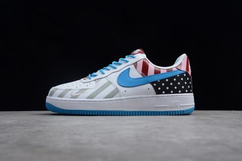 ca22a9c095 2018 Parra x Nike Air Force 1 07 White Multi Color 315122-170 - Sepsale