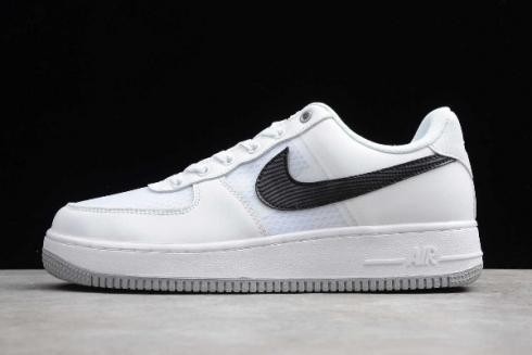 2019 Nike Air Force 1'07 LV8 White Black Pure Platinum CI0060 100