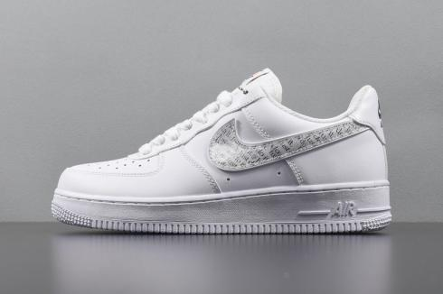 Nike Air Force 1 07 LV8 JDI LNTC Low Just Do It White Clear BQ5361-100