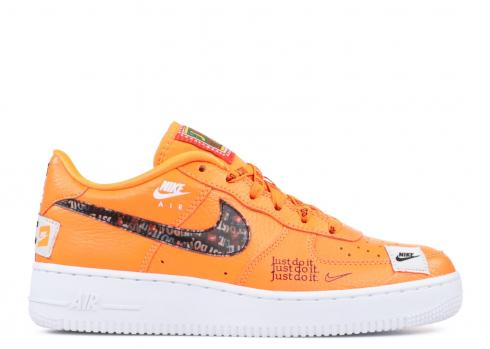 Nike Air Force 1 Jdi Prm GS Just Do It Orange Total AO3977-800