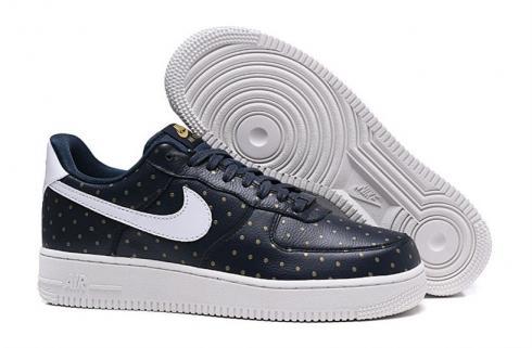 Nike Air Force 1 Low Dark Blue Gold Dot AT0062 401