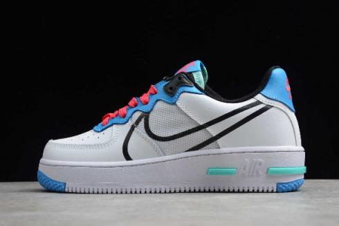 Nike Air Force 1 Low React White Sky Blue Red Black CD4366-003 ...