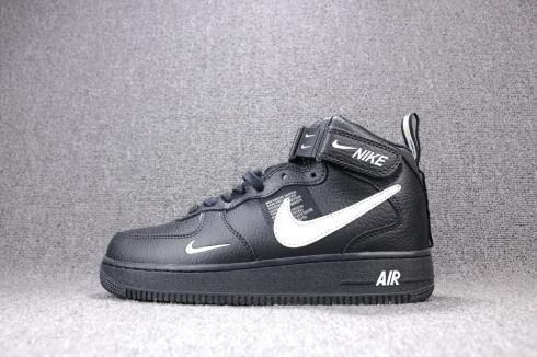 Nike Air Force 1 Mid 07 LV8 Utility Black White 804609-001