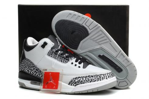 best website a46de dc45f Nike Air Jordan III Retro 3 Shoes Unisex White Black Grey 136064