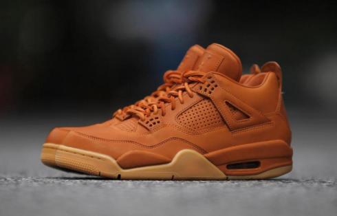 Nike Air Jordan 4 IV Premium Ginger AJ4 Retro Men Shoes Wheat 819139 205