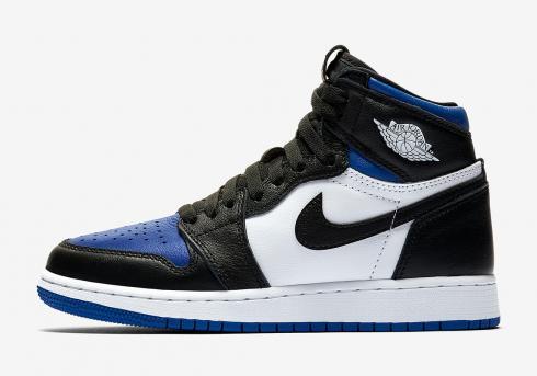 Air Jordan 1 Retro High Og Gs Royal Toe Blue Black White 575441