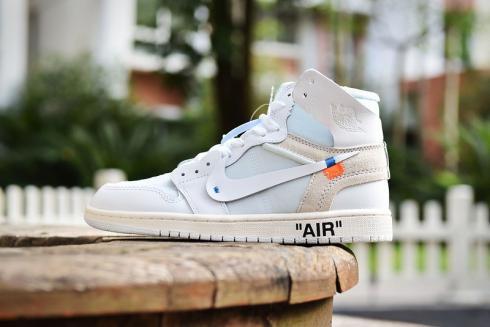 Nike Air Jordan 1 Retro High Off White White AQ0818 100