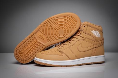 Nike Air Jordan I 1 Retro Wheat color white Men Basketball Shoes