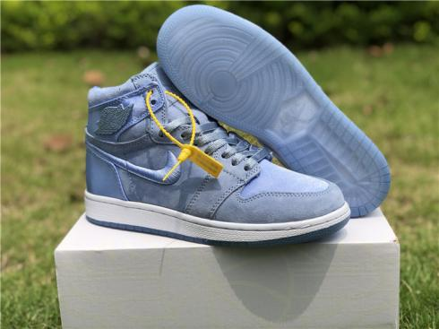 Nike Air Jordan I 1 Women Basketball Shoes Light Blue All