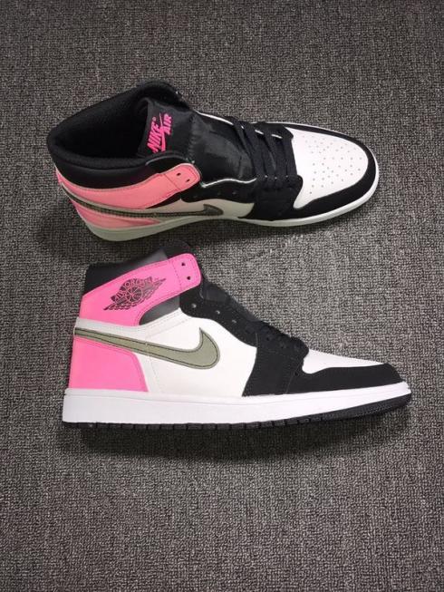 Nike Air Jordan Retro I 1 High Valentine Day Pink 3M Women Shoes 881426-009