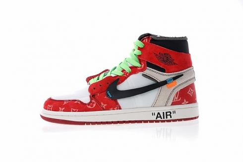 the best attitude 3a4ad 296ef Parra x Off White x Air Jordan 1 High Custom Blue White Red ...