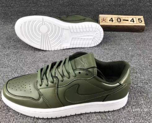 Nike Air Jordan 1 Retro Low Army green Men Basketball Shoes