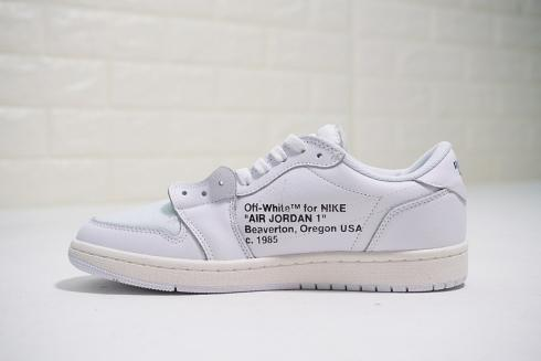 nice shoes a8a6f ed2fe Prev OFF White x Nike Air Jordan 1 Low White Blue AA3834-100