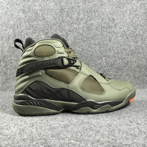 Nike Air Jordan 8 Retro VIII Take Flight Undefeated Sequoia Green Men Basketball Shoes 305381-305