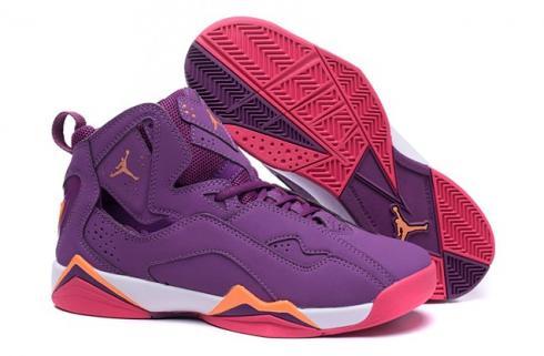 Nike Air Jordan True Flight AJ7.5 Grap Orange Pink GS Women Shoes 342774 517 NEW