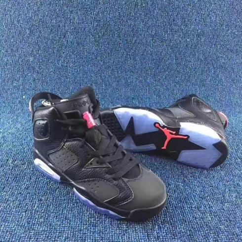 huge discount 64cf8 2e45b NIKE AIR JORDAN VI 6 RETRO black powder women shoes 543390-008