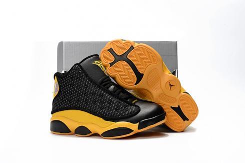 Nike Air Jordan XIII 13 Retro Kid Children Shoes Hot Black Yellow