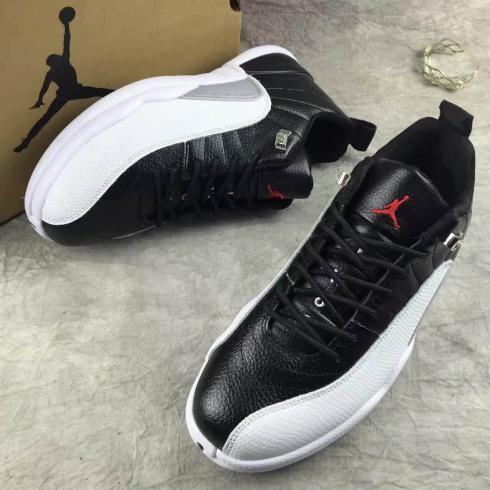 Nike Air Jordan Retro XII 12 Low Black White Men Shoes 308317