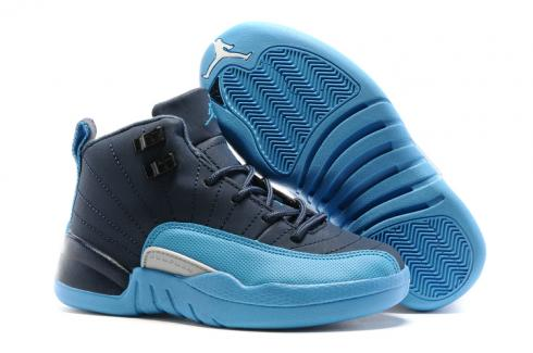 promo code 6fae6 c5ee9 Prev Nike Air Jordan XII 12 Kid Children Shoes Royal Blue Sky Blue  510815-017
