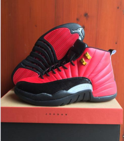 look out for website for discount hot new products Nike Air Jordan XII 12 Retro red black white men Basketball Shoes