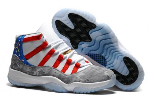 great prices no sale tax on wholesale Nike Air Jordan XI 11 Retro Men Shoes USA Moon Landing Star Spangled Banner