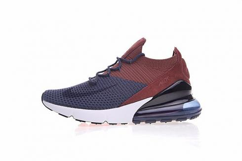 Nike Air Max 270 Flyknit Royal Blue Vintage Wine Crimson AO1023-004