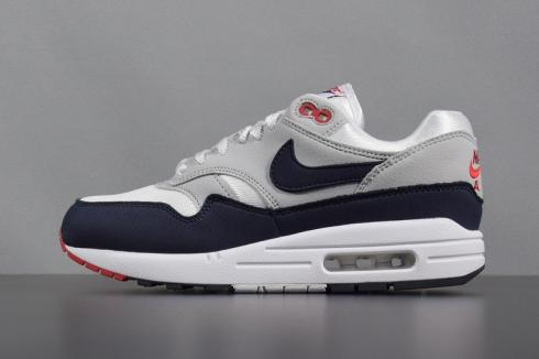 a98552de25 Nike Air Max 1 OG Anniversary White University Red Neutral Grey ...