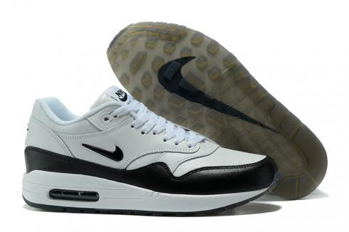 Nike Air Max 1 Master Running Men Shoes White Black 875844