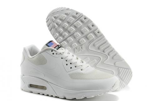 Nike Air Max 90 Hyperfuse QS Sport USA White July 4TH Independence Day 613841 110