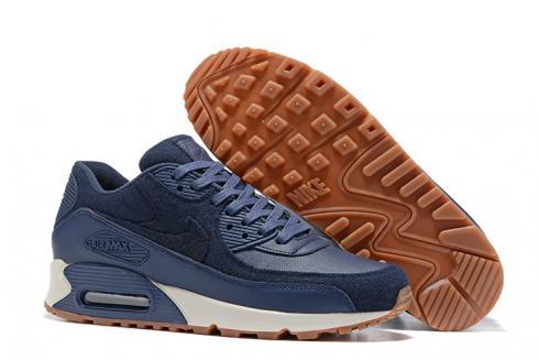 Nike AIR MAX 90 LTHR deep blue men running shoes 700155-401