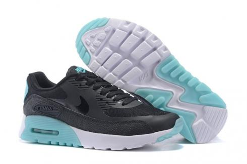 Nike Air Max 90 Ultra Essential Black Jade Turquoise Women Running Shoes 724981 001