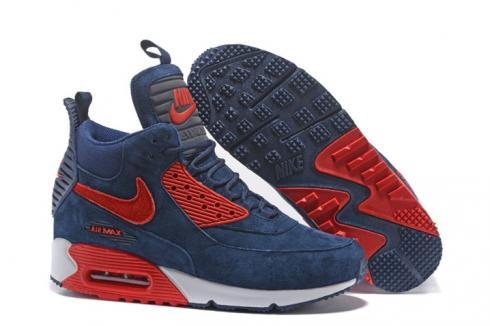 wholesale dealer cec80 5cc6e Prev Nike Air Max 90 Sneakerboot Winter Suede Deep Blue Red 684714-019