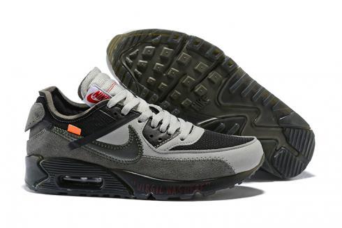 OFF WHITE x Nike Air Max 90 OW Men Running Shoes Black Grey