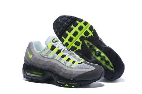 Nike Air Max 95 Am95 Am Black Volt Medium Ash Dark Pewter Og Neon