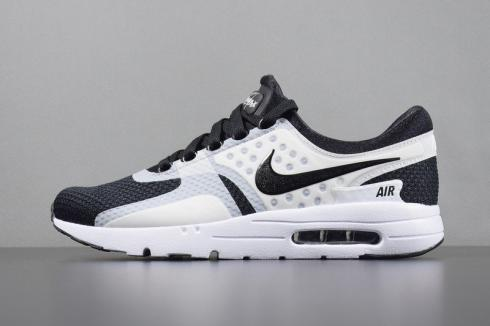 Nike AIR MAX ZERO ESSENTIAL MENS 9 running shoes 876070 100 WHITE WHITE WOLF
