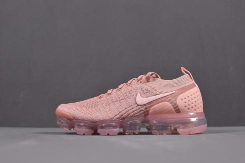 innovative design eb6fb 32899 Nike Air VaporMax Flyknit 2.0 Rust Pink Sneakers 942843-600