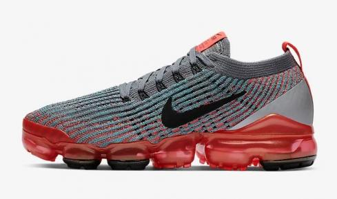 Nike Air VaporMax Flyknit 3 Flash Crimson Cool Grey Blue Fury Black AJ6910-601