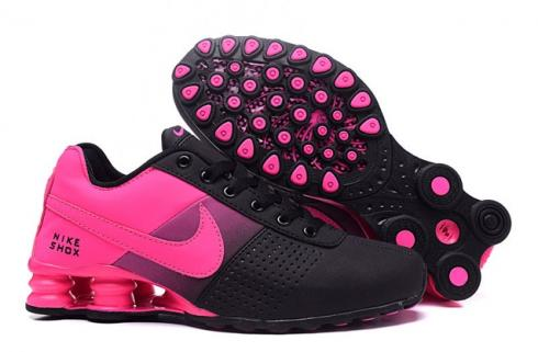buy online fd8af a7954 Nike Shox Deliver Women Shoes Fade Black Fushia Pink Casual Trainers  Sneakers 317547