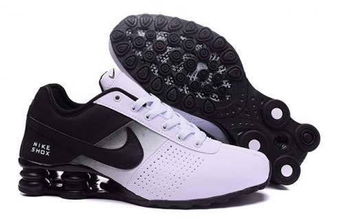 nike shox deliver men shoes fade white black casual