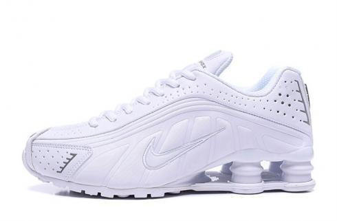 Nike Shox R4 301 Pure White Men Retro Running Shoes BV1111-100