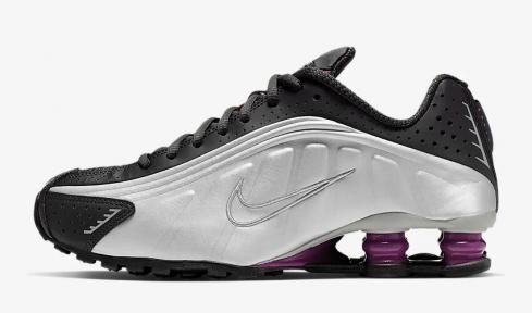 Nike Shox R4 Anthracite Metallic Silver Black True Berry AR3565-003