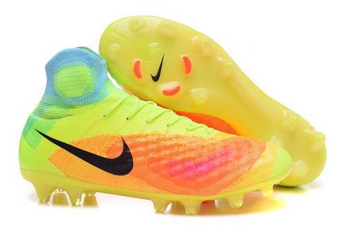 Nike Magista Obra II Nike Magista Obra II FG Soccers Football Shoes Volt Black ...