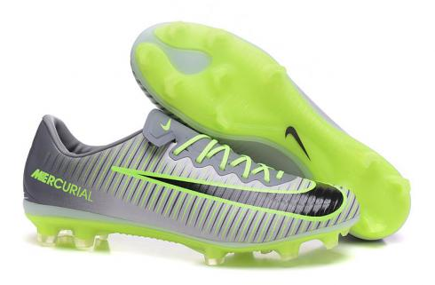 Nike Mercurial Vapor XI FG Soccers Shoes Grey Green Black