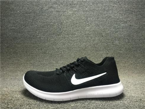 brand new 68d5c 01aa0 Nike Free RN Flyknit 2017 Running Shoes Black White 880843-001