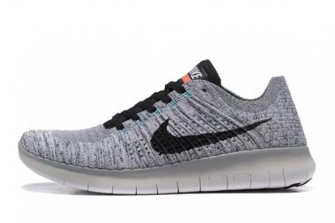 Nike Free RN Flyknit 5.0 Grey Black Mens Running Shoes 831069 002