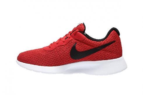 Nike Tanjun Red Black White Bright Crimson Mens Running Shoes 812654-005
